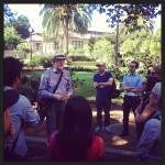 Knight Fellowship Director Jim Bettinger gives his tour of the Stanford campus.