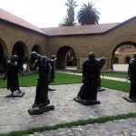 Rodin sculptures in the Main Quad - Burghers of Calais.
