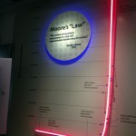 Exhibit depicting Moore's law - that computing power doubles every 18 months.