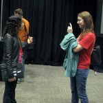 Ashley Hebler, now a junior Web developer at Volusion, gets an interview after a Web design panel at SXSW 2012.