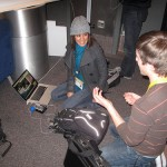 Maira Garcia, now of NY Times, and Jon Zmikly, now on faculty at TX State, plot their strategy at SXSW 2011.