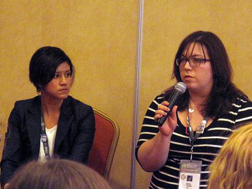 Maira Garcia and Anna Tauzin speak at SXSW 2011.