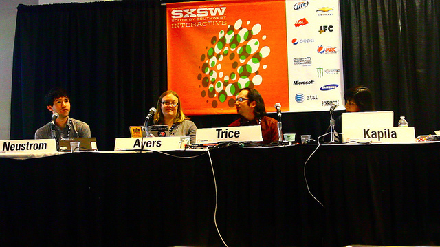 Dee Kapila and Michael Trice speak at SXSW 2011.