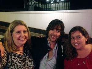 My sister Judy and I snap a late-night photo with Rhett Miller of Old 97's.