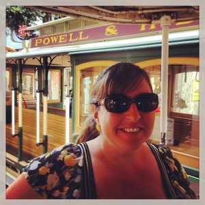 Riding the cable car!
