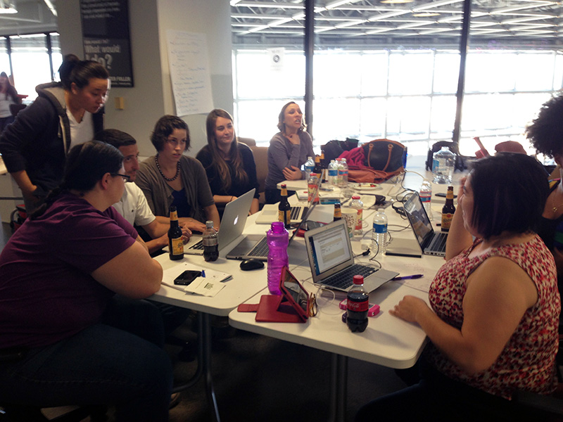 Ashley and Sara participated in our Ushahidi hackathon in 2013.